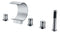 Anzzi Ribbon 3-Handle Deck-Mount Roman Tub Faucet in Chrome