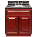 "Cherry Bathroom Vanity 30"", Tan Brown Granite Top, Faucet LB4B TB318-30CH-4B"