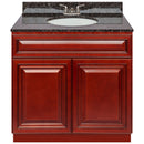 "Cherry Bathroom Vanity 36"", Tan Brown Granite Top, Faucet LB3B TB374-36CH-3B"