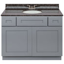 "Cherry Bathroom Vanity 42"", Tan Brown Granite Top, Faucet LB3B TB434-42CG-3B"