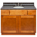 "Brown Bathroom Vanity 42"", Tan Brown Granite Top, Faucet LB4B TB438-42NP-4B"