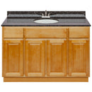 "Brown Bathroom Vanity 48"", Tan Brown Granite Top, Faucet LB5B TB494-48RC-5B"