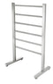 Anzzi Riposte Series 6-Bar Stainless Steel Floor Mounted Electric Towel Warmer Rack-Brushed Nickel