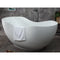 "ALFI 66"" White Solid Surface Smooth Resin Soaking Bathtub AB9949"