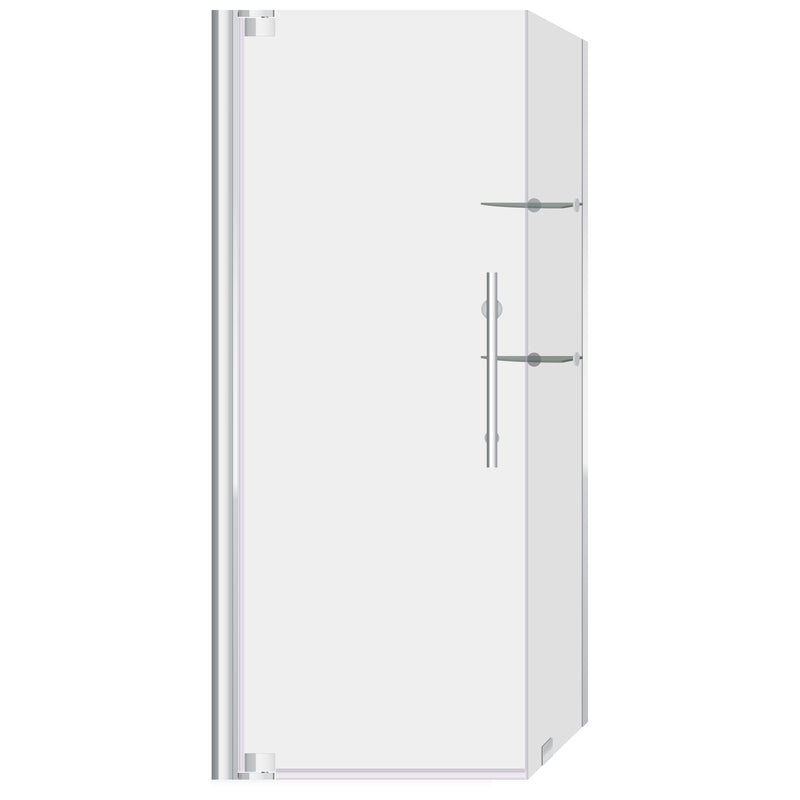 34 3/8-35 W x 72 H x 29-30 D Swing-Out Shower Enclosure ULTRA-G LBSDG3472-C+LBSEG3072-C-SE