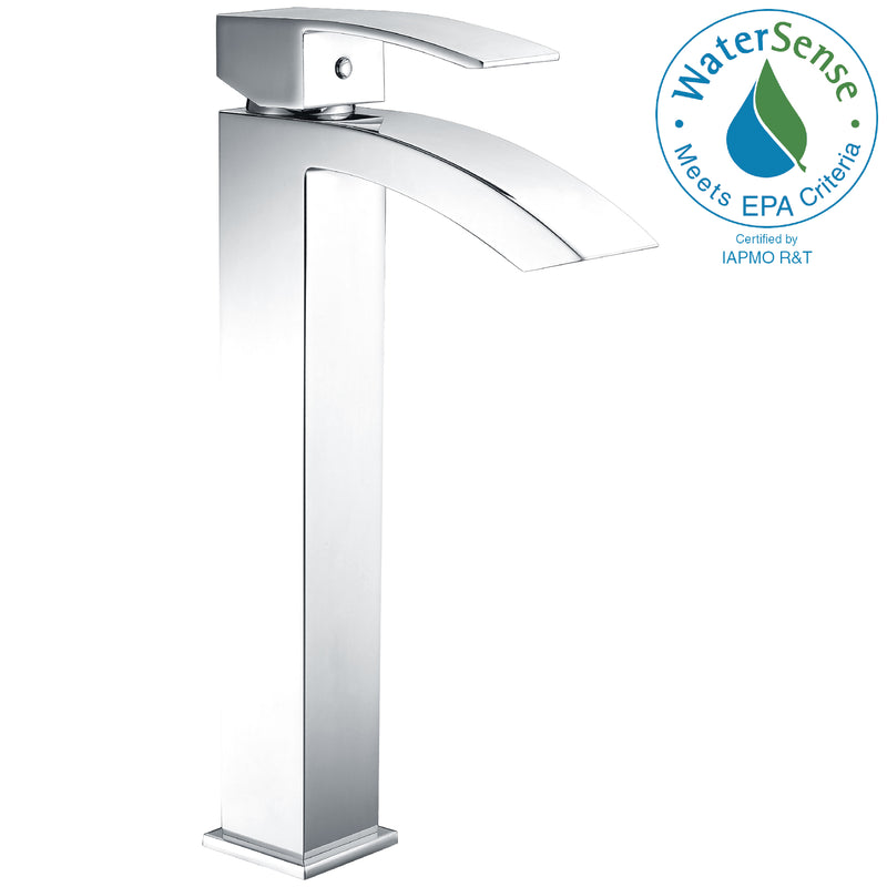 Anzzi Tutti Single Hole Single-Handle Bathroom Faucet in Polished Chrome