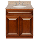 "Brown Bathroom Vanity 30"", Wheat Granite Top, Faucet LB4B WH318-30GN-4B"