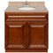 "Brown Bathroom Vanity 36"", Wheat Granite Top, Faucet LB5B WH374-36GN-5B"