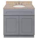 "Cherry Bathroom Vanity 36"", Wheat Granite Top, Faucet LB4B WH378-36CG-4B"