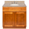 "Brown Bathroom Vanity 36"", Wheat Granite Top, Faucet LB4B WH378-36NP-4B"