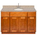 "Brown Bathroom Vanity 48"", Wheat Granite Top, Faucet LB6B WH494-48NP-6B"