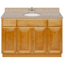 "Brown Bathroom Vanity 48"", Wheat Granite Top, Faucet LB5B WH494-48RC-5B"