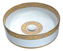 Anzzi Byzantian Series Ceramic Vessel Sink in Mosaic Gold