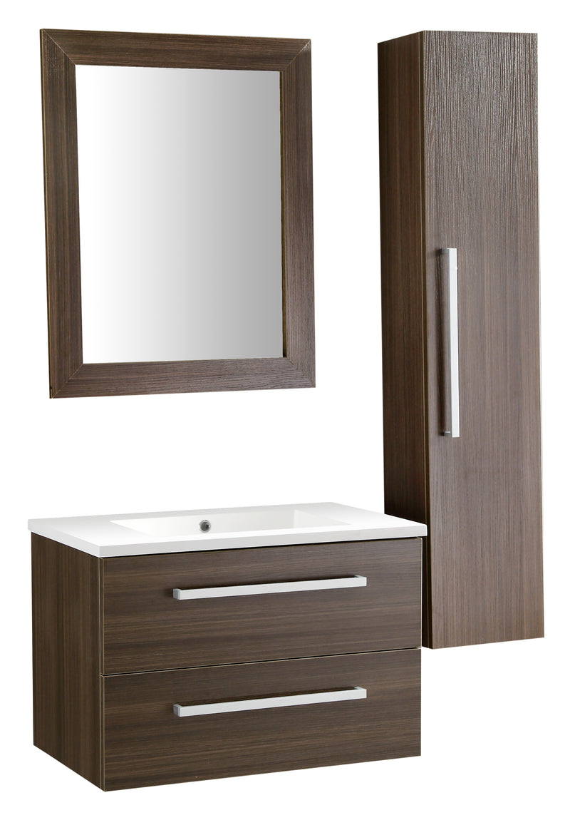 "Anzzi Conques 30"" W x 20"" H Bathroom Vanity Set in Rich Brown"