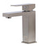 ALFI Brushed Nickel Square Single Lever Bathroom Faucet AB1229-BN