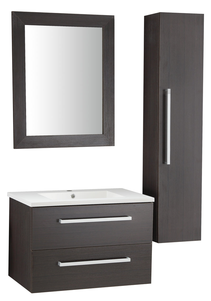 "Anzzi Conques 30"" W x 20"" H Bathroom Vanity Set in Rich Umber"