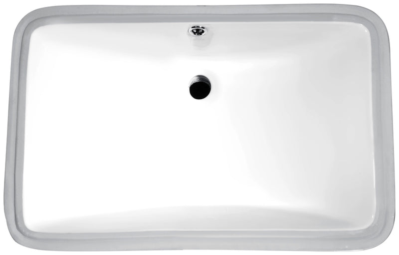 "Anzzi Dahlia Series 7.5"" Ceramic Undermount Sink Basin in White"
