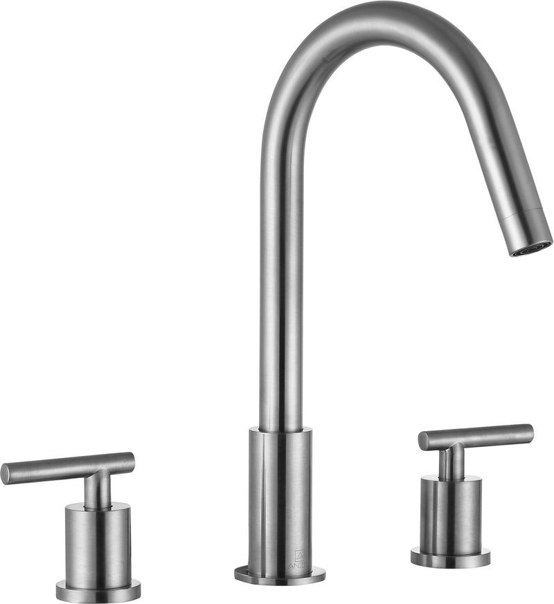 "Anzzi Spartan 8"" Widespread 2-Handle Bathroom Faucet in Brushed Nickel"