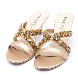 BRIDAL Slipper Golden Color SKU: 045073