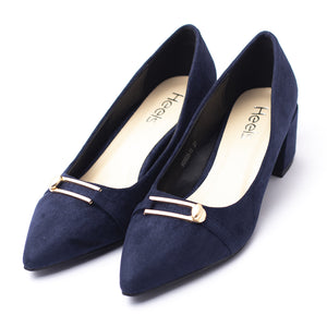 Formal ladies court shoes navy color SKU 085301