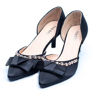Formal ladies court shoes black color SKU 085311