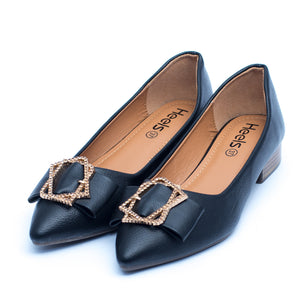 casual ladies pumps black color SKU 090520