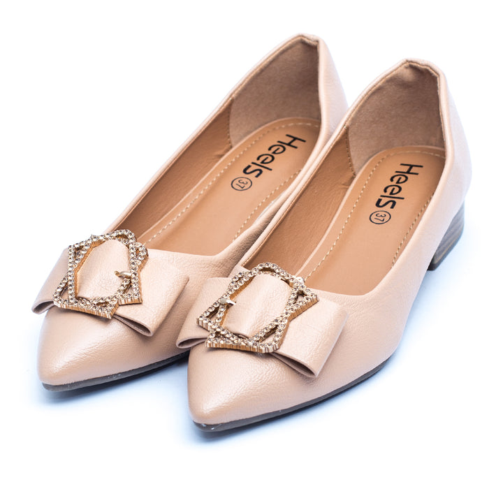 casual ladies pumps apricot color SKU 090520
