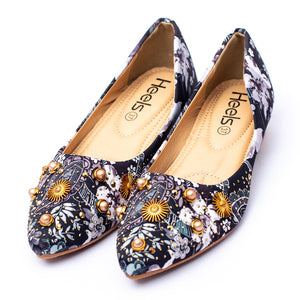 formal ladies pumps black color SKU 090524