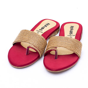 Youth Chappal Maroon Color SKU: G50149