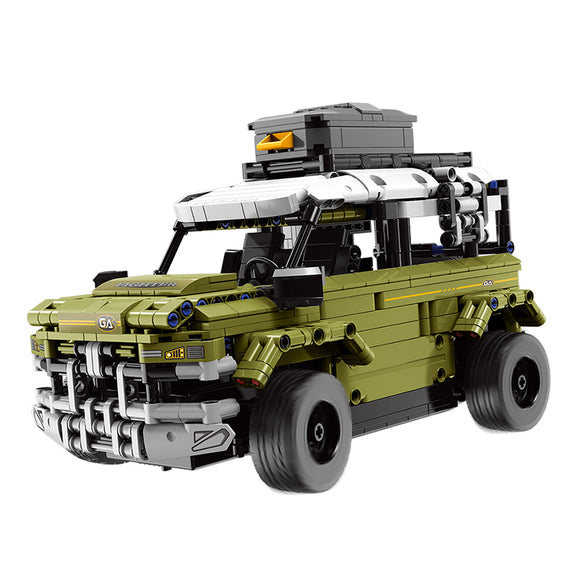 Green Remote Control Off-Road SUV Truck