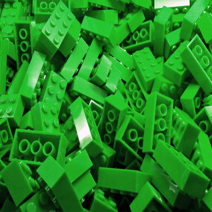 Green LEGO Bricks by the Pound