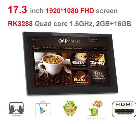 17.3 inch Android digital display Tablet