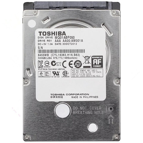Toshiba 500GB HDD 2.5 Sata for Laptop