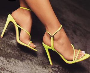 Ankle Strap Sandals Stiletto Heels_allurelane