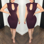 Hollow Out Backless Bodycon Dress_allurelane