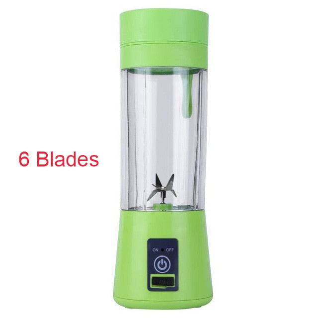 4/6 Blades Handheld Portable Juicer with USB plugin_allurelane