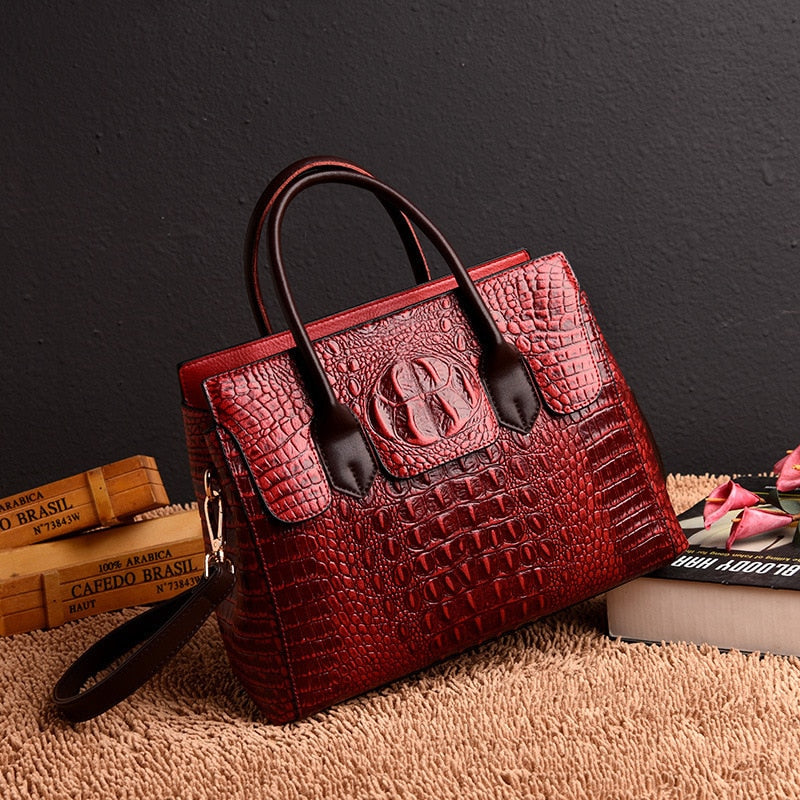 Vintage Genuine Leather Luxury Handbags_allurelane