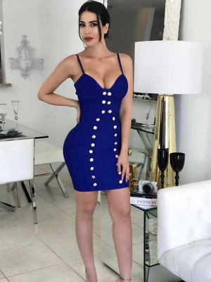 Spaghetti Strap Bodycon Dress_allurelane