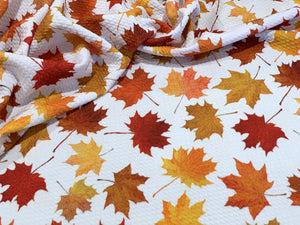 Bullet Textured Pumpkin Pie, Christmas Lights, Autumn Leaves, Gingerbread Fabric