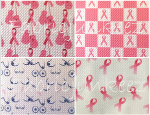 Bullet Textured Breast Cancer Awareness Fabric