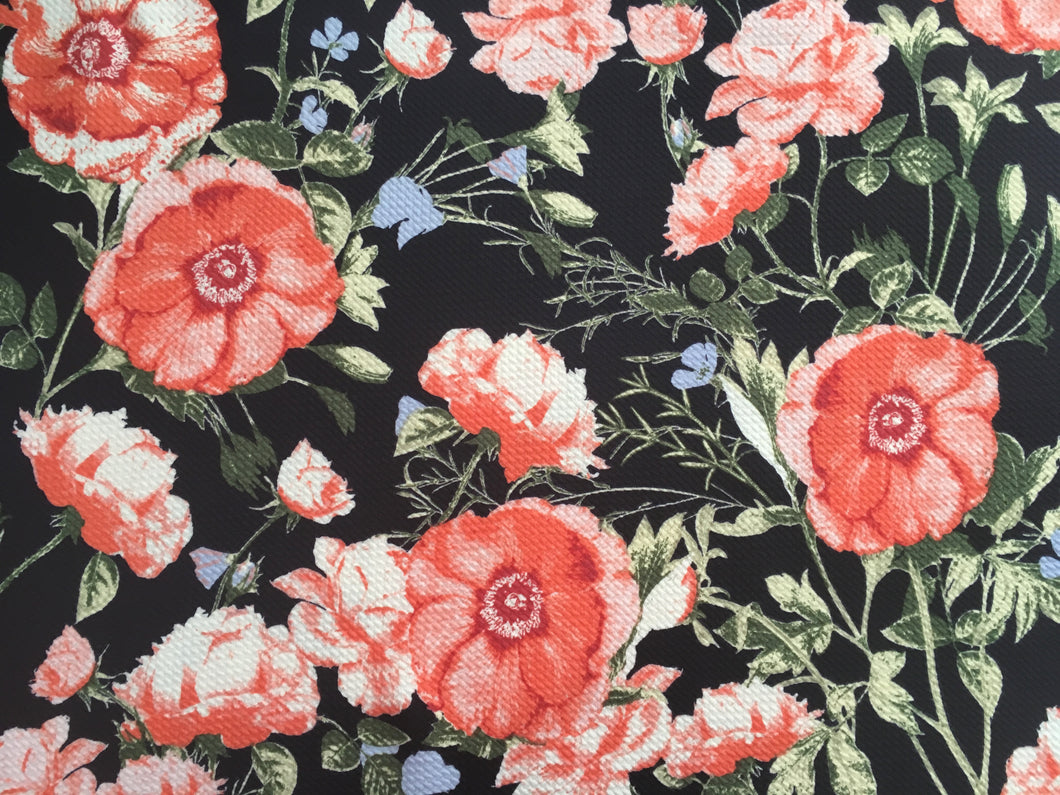 Bullet Textured Floral Collection Fabric