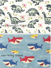 Load image into Gallery viewer, Bullet Textured Baby Shark & Dinosaurs Collection Fabric