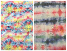 Load image into Gallery viewer, Distressed Collection Tie Dye Rainbow Watercolor Faded Washed Out Stretch Knit Fabric