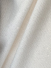Load image into Gallery viewer, Textured Gorgeous Dazzling Glitter on Cream or Black Liverpool Stretch Fabric