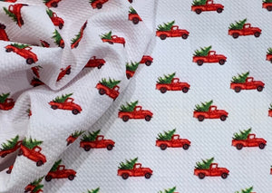 Bullet Textured Christmas Trucks, Plaid or Lights Liverpool Poly/Lycra/Spandex Stretch Knit Fabric