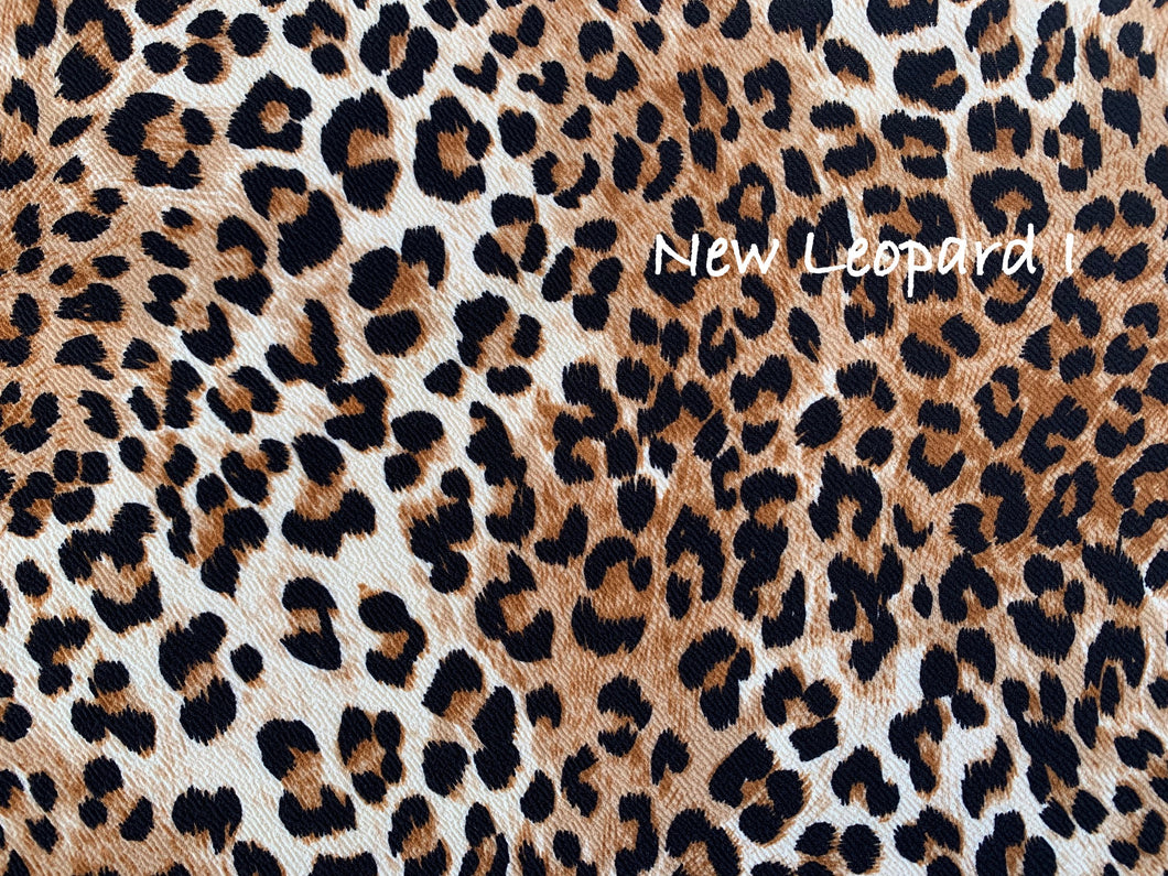 Textured Brown Leopard Liverpool Poly/Spandex Stretch Knit Fabric