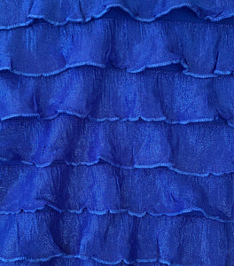 "1"" Shimmer Ruffle Poly/Spandex Stretch Fabric By The Yard"