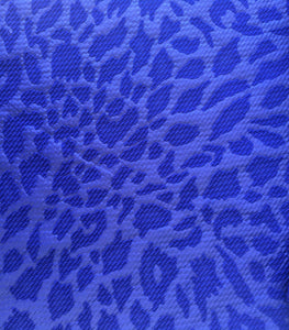 Bullet Textured Leopard Black or Royal Blue Liverpool Poly/Spandex Stretch Fabric