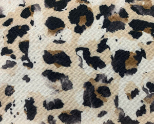 Bullet Textured Leopard Collection Poly Spandex Stretch Fabric