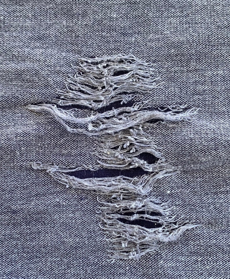 Distressed Collection Faded Washed Out Stretch Knit Fabric
